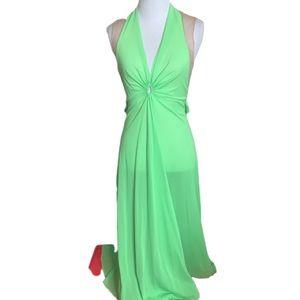 Lime Vintage Nightie Night Gown bust 32 Lucie Ann